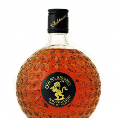whisky old Saint Andrews bouteille balle de golf